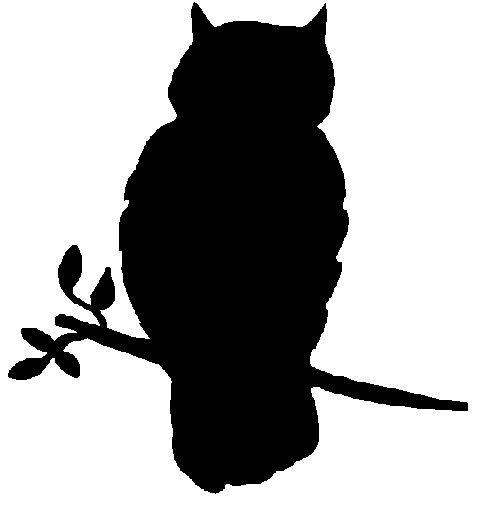 Owl Silhouette Template - ClipArt Best