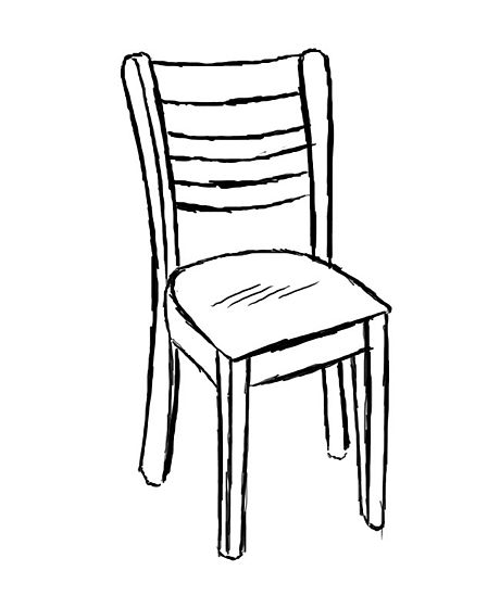 Line Drawing Chair : Pix for gt wooden chair outline clipart best