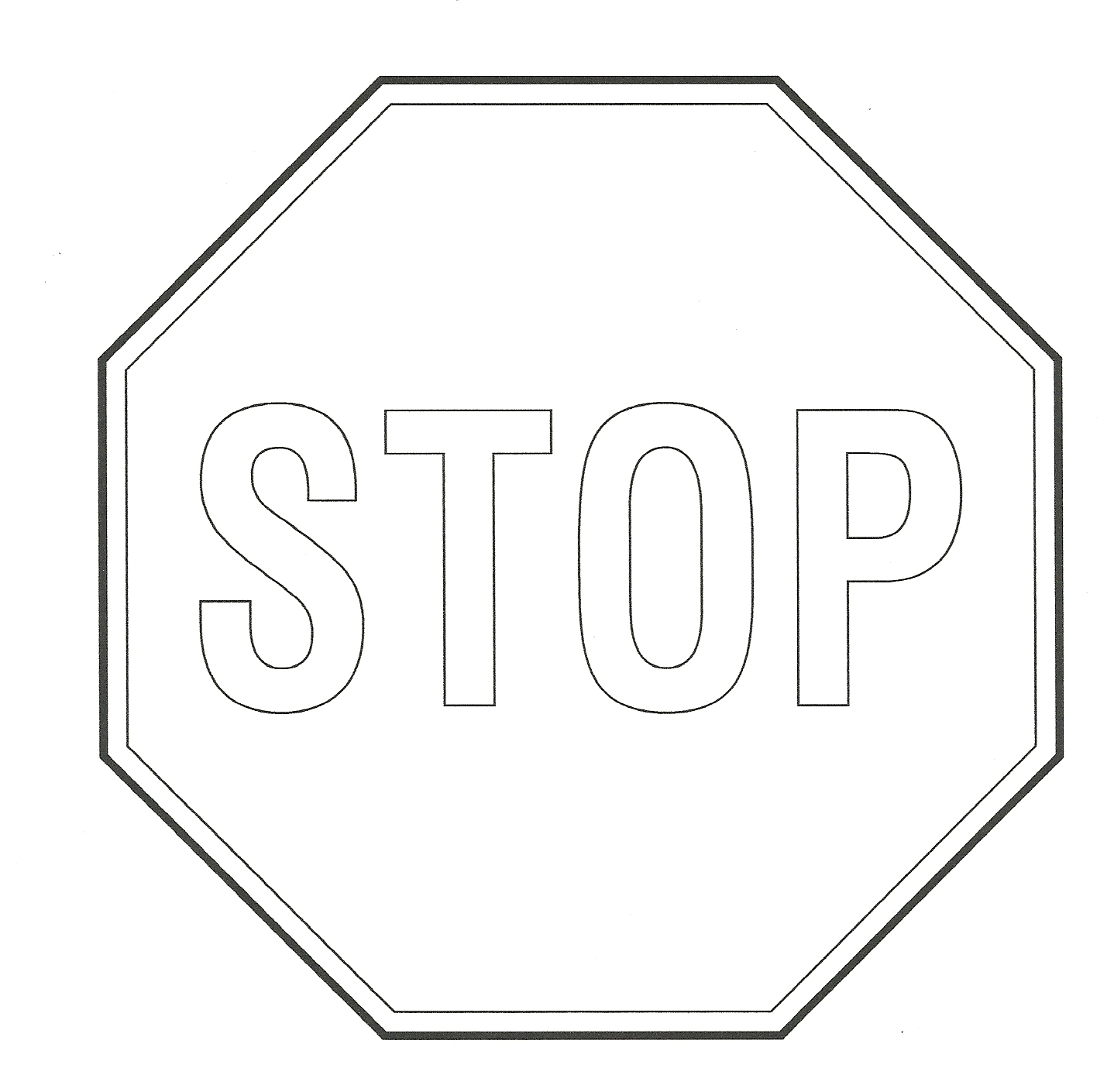 Stop Sign Color In - ClipArt Best