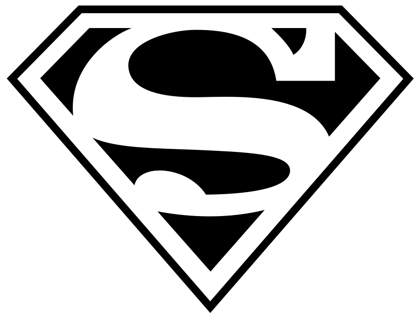 Superman Outline - ClipArt Best