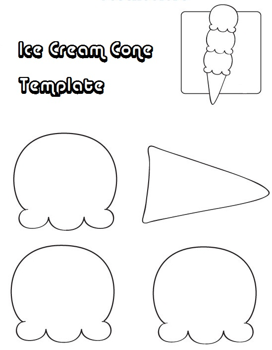 Ice Cream Template Ice Cream Cone Jos