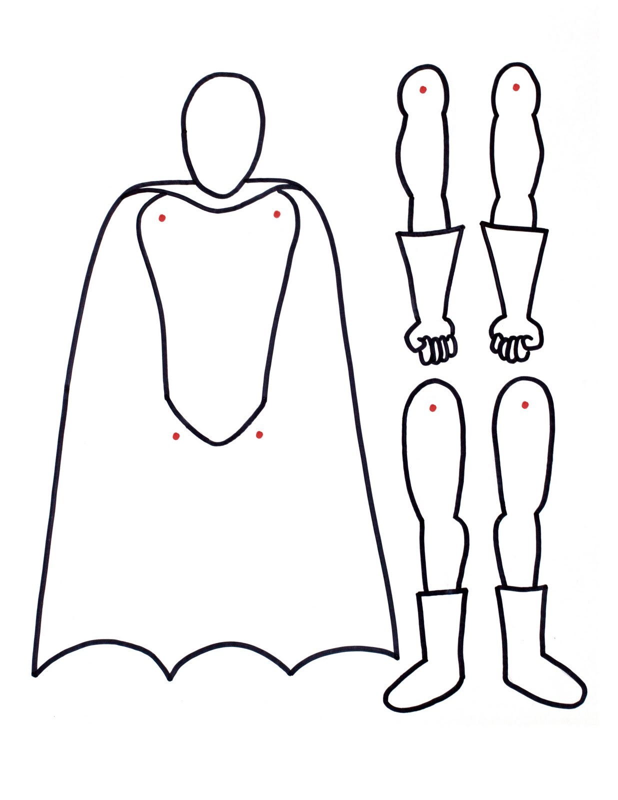 Free Paper Doll Template - ClipArt Best