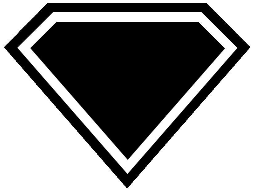Superman Diamond Outline - ClipArt Best