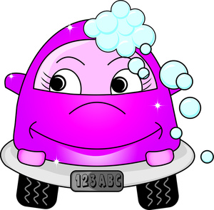 Car Wash Clipart Image - Cartoon of a Female Car at a Car Wash ...