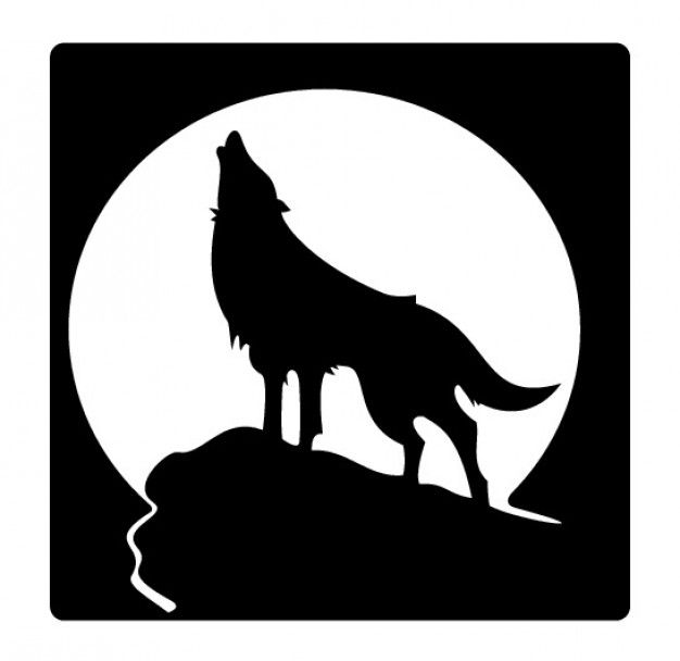 Silhouette Coyote Howling Moon - ClipArt Best