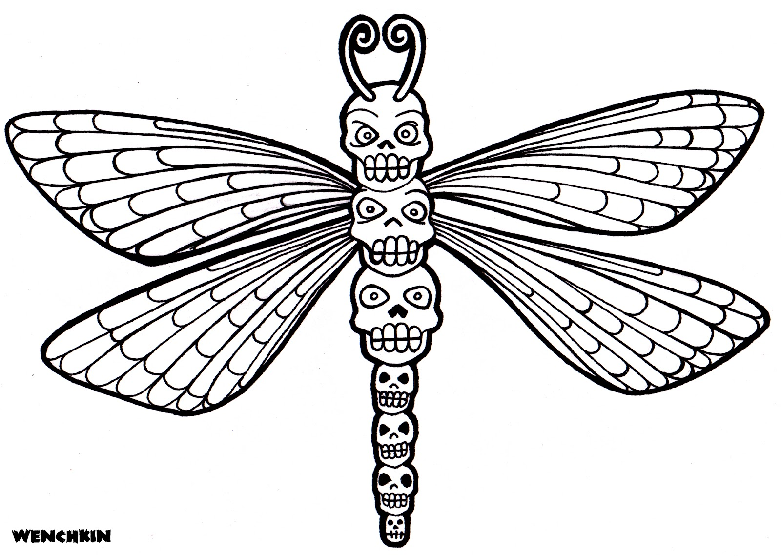 dragonfly coloring book pages - photo#34