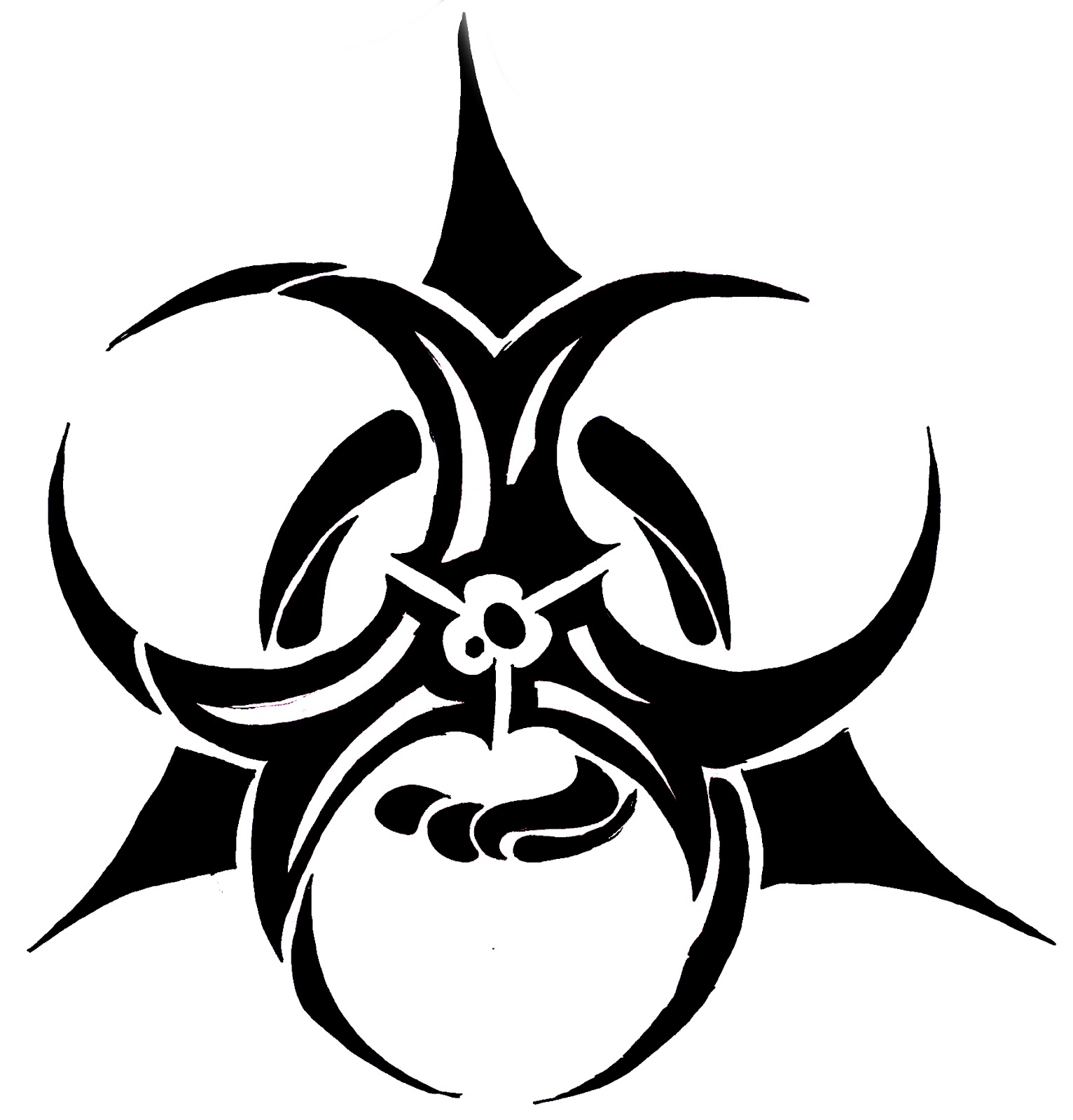 Biohazard logo page 12 images clipart best clipart best for Tribal biohazard tattoo designs