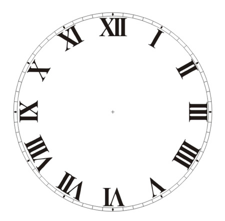 Different Clock Numbers on puzzle clipart