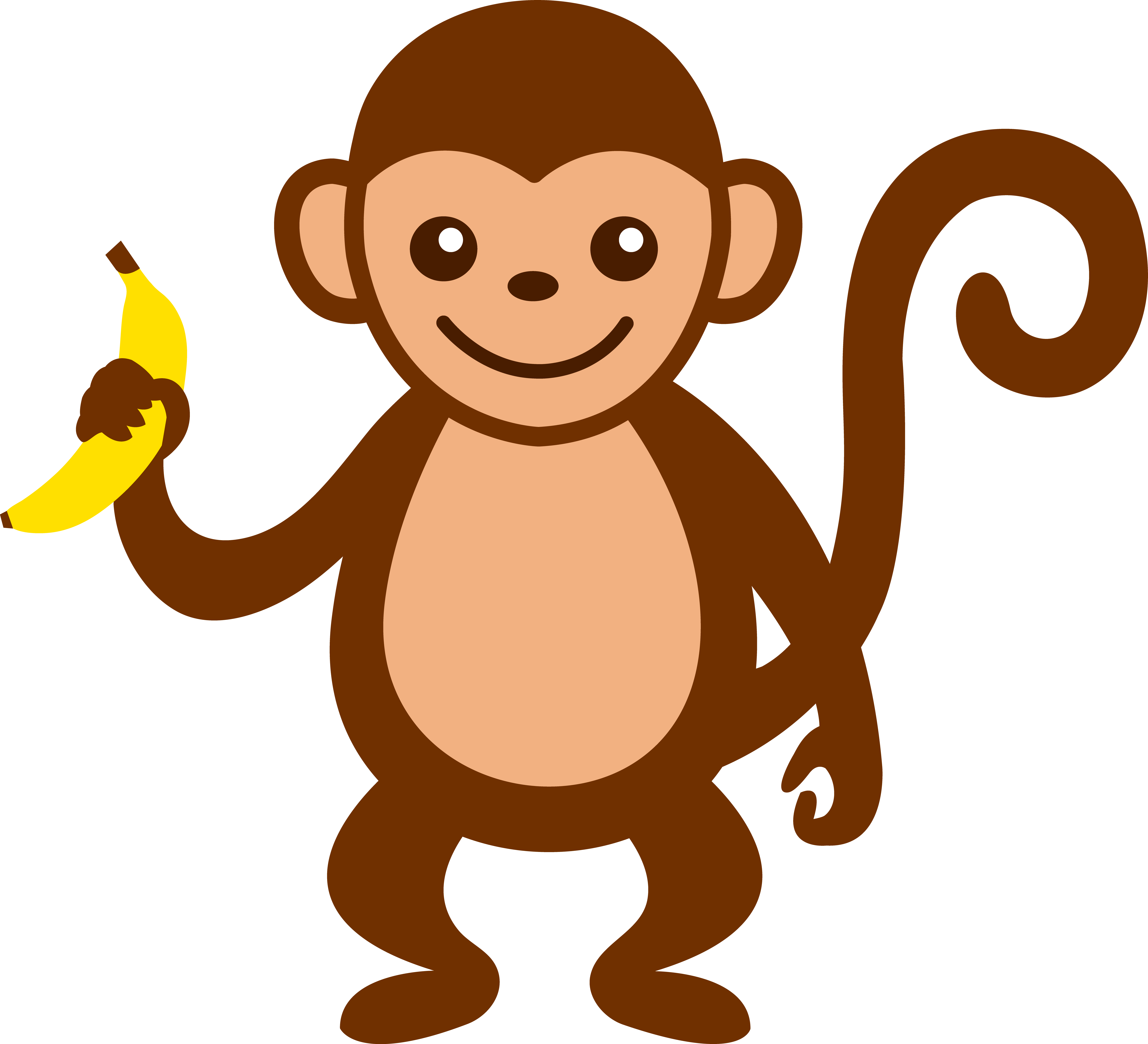Picture Of Monkey With Banana - ClipArt Best