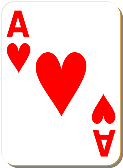 Playing card heart image clipart best for Transparent top design