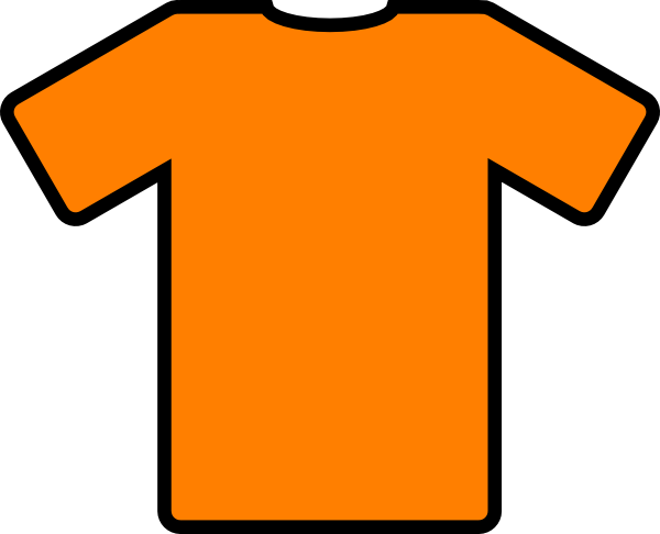 Orange T Shirt Clip Art Clip Art Vector Clip Art Online Royalty ...