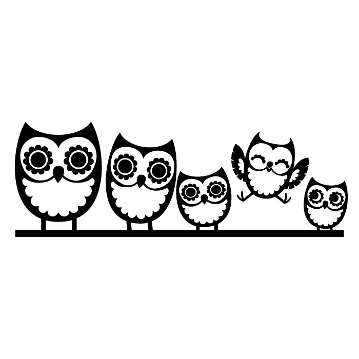 Owl Family Wall Decal Cozy ClipArt Best ClipArt Best