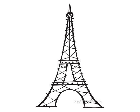 Line Drawing Eiffel Tower : Eiffel tower drawing clipart best
