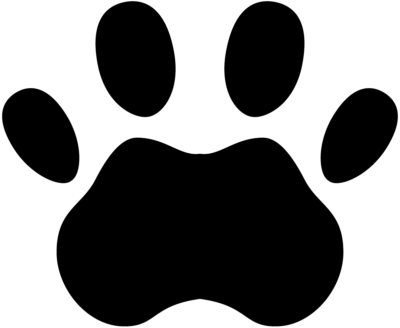 tiger paw images clipart best
