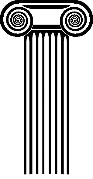Roman Columns Clip Art - ClipArt - 17.2KB