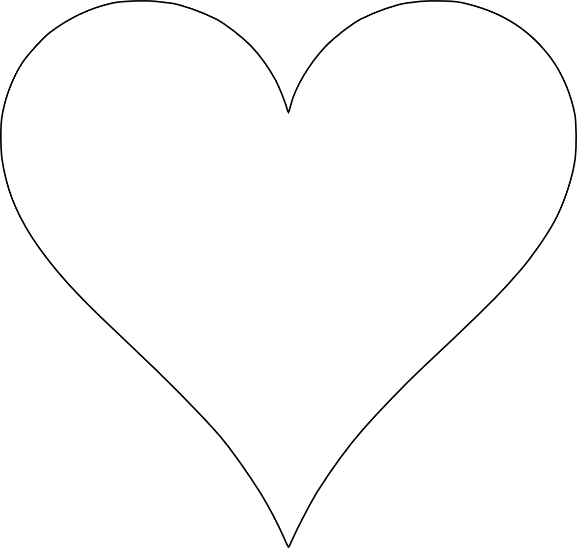 33 heart shape template free . Free cliparts that you can download to ...