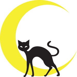 Cat Clipart Image - Cat Silhouette In Front Of Cresent Moon - ClipArt ...