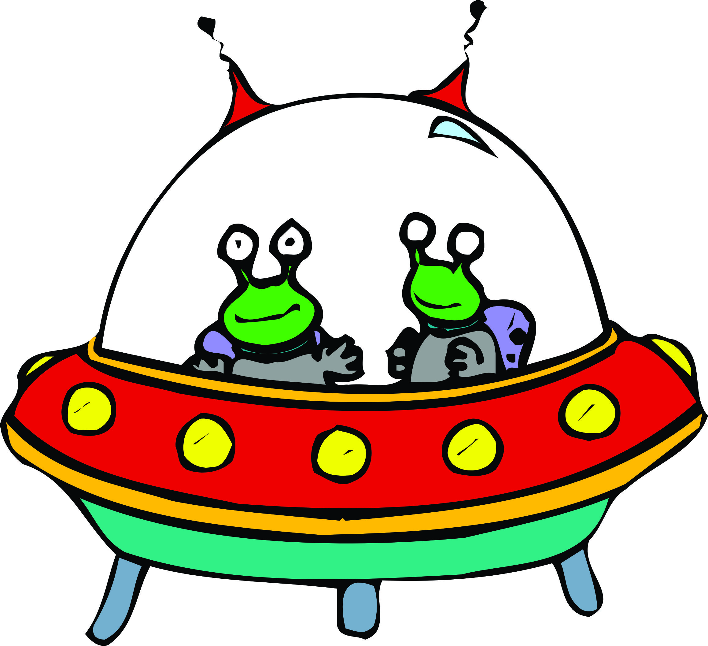 free clipart alien spaceship - photo #2