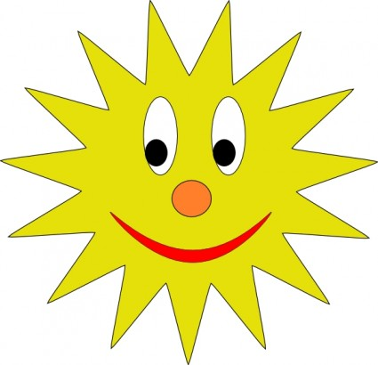 Smiling Sun clip art Vector clip art - Free vector for free download ...