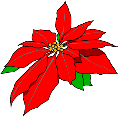 Christmas Flowers Clip Art - ClipArt Best