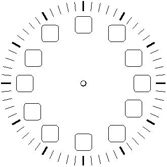 Blank Clock  Printable Worksheets EnchantedLearningcom