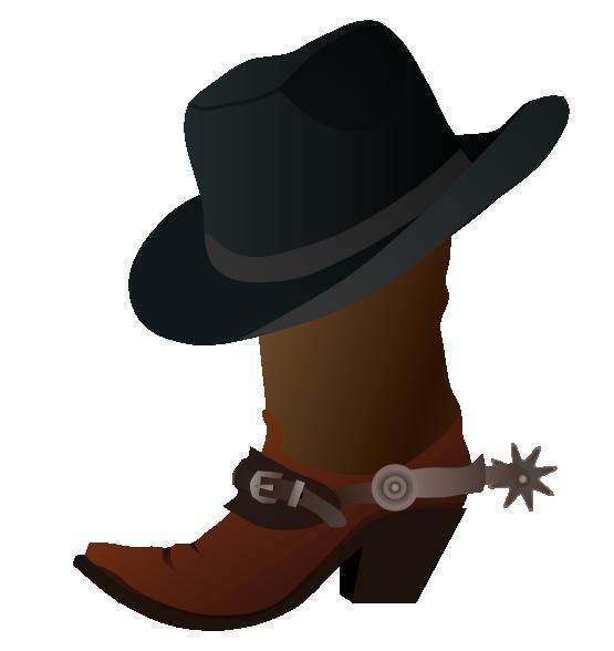 Cowboy Hat Images Clip Art Boot With Hat Clip Art