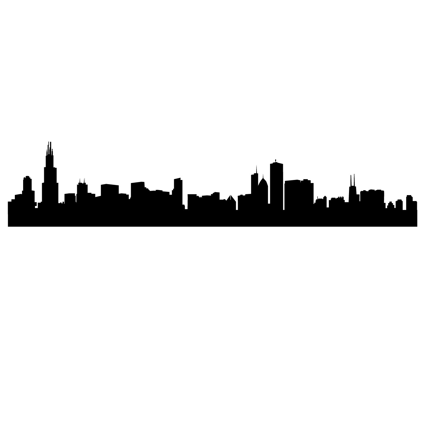 chicago skyline silhouette from navy pier photographic Detroit Skyline Outline detroit skyline outline vector