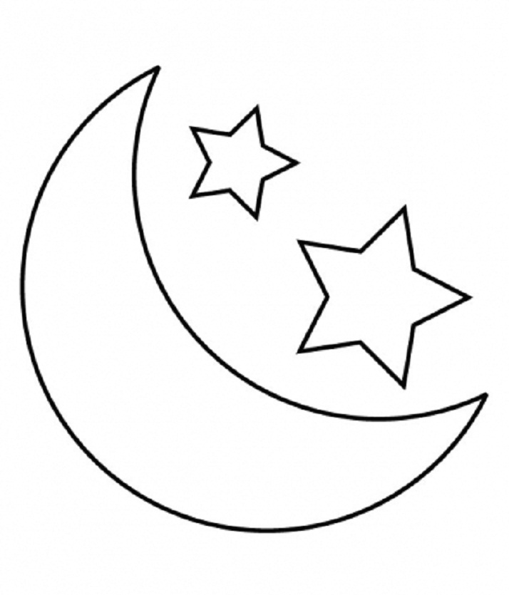 free clip art moon and stars - photo #30