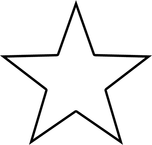 Outline Of A Star Shape - ClipArt Best